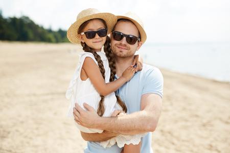 Hombre con hija Foto de archivo