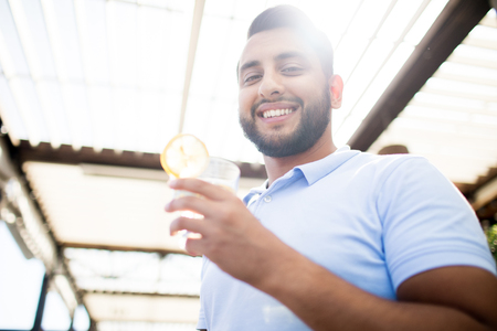 Man with lemonade