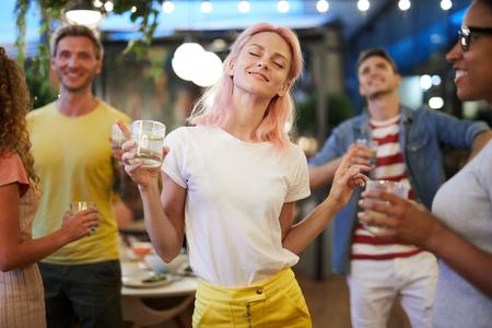 Dancing at party 版權商用圖片