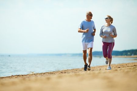 Activity by seaside Stock Photo