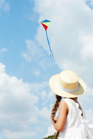 Summer Girl with Kite