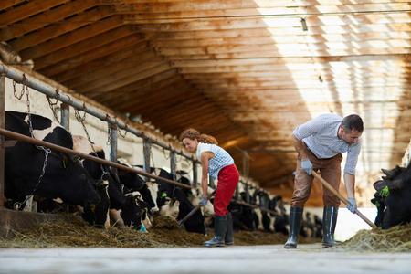 Familie auf dem Bauernhof