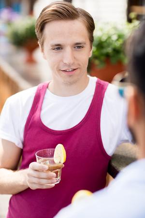 Modern Young Man in Bar