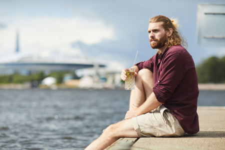 Guy by water
