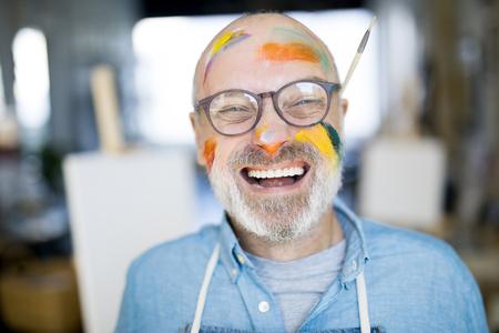 Cheerful painter