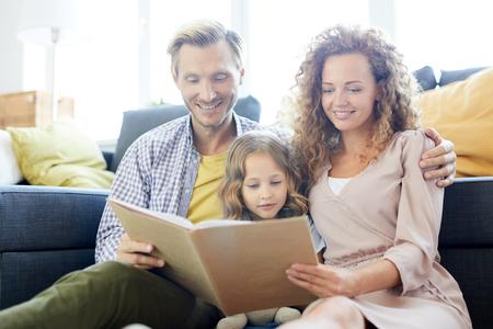 Family reading 写真素材