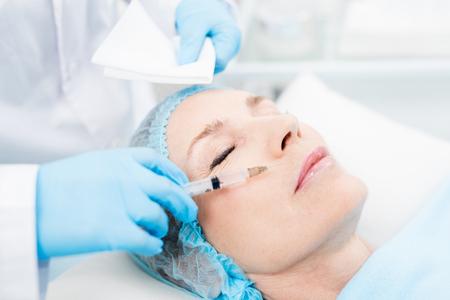 Rejuvenating injection 스톡 콘텐츠