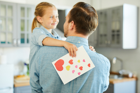 Affectionate daughter Stock Photo
