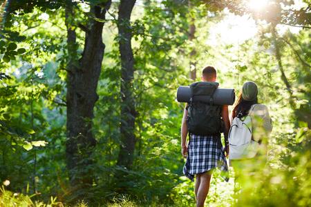 Campers walking
