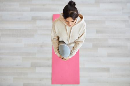 Girl exercising Фото со стока