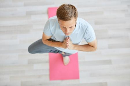 Yoga training Stockfoto