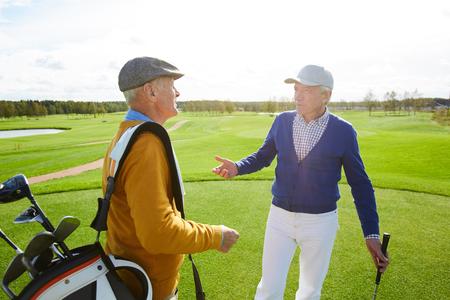 Golf players 版權商用圖片
