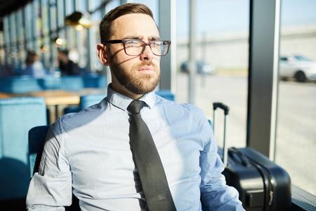 Businessman in restaurant Standard-Bild - 115177194