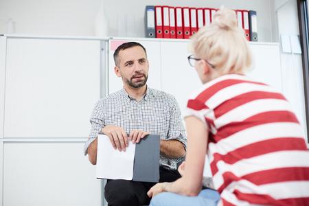 Sitzung mit Patient