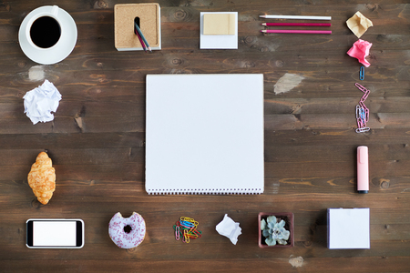 Flat Lay With Stationery
