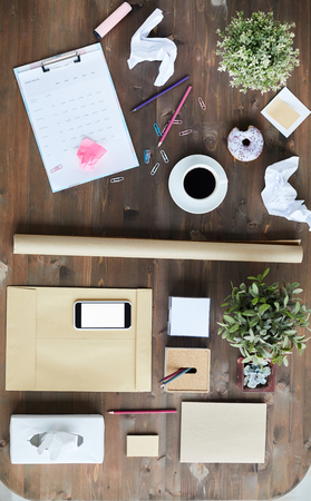 Objects for work of designer