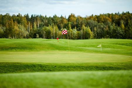 Field for golf Banco de Imagens