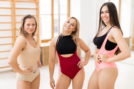 Girls in bodysuits Stock Photo