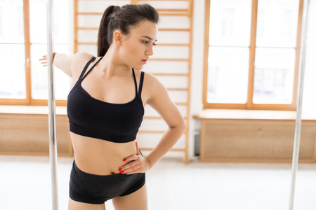 Gymnastics in studio Standard-Bild - 113326423