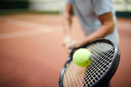 Ball and racket 版權商用圖片