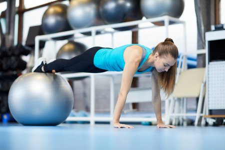 Pilates exercise Stock Photo