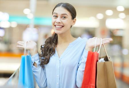 Seasonal sale in the mall Stock Photo