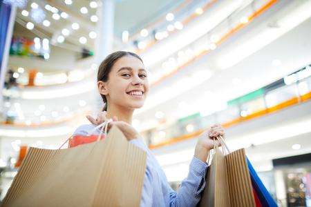 Cheerful shopper