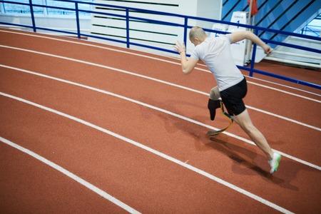 Fast runner Stockfoto