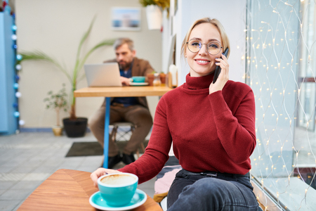 Woman calling Stock Photo - 117430466