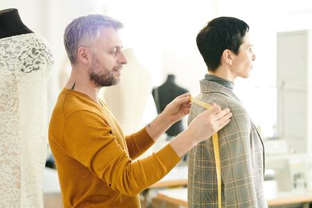 tailor measuring Width of jacket back