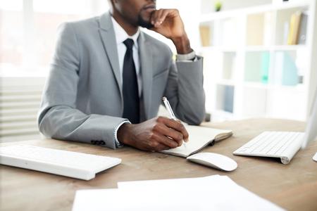 Man planning work 写真素材