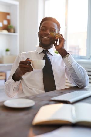 Calling at break