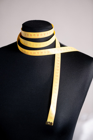Mannequin avec du ruban adhésif Banque d'images
