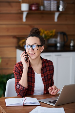 Businesswoman at home Stock Photo - 121190496