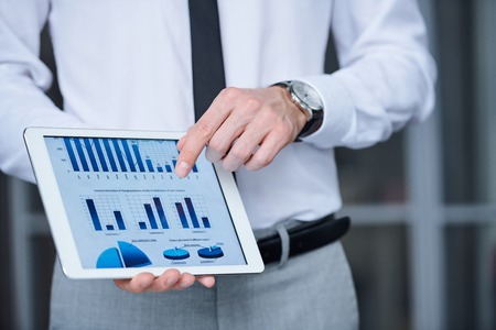 Presentation of chart Stock fotó