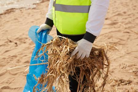 Picking up waste