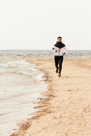 Beach runner 写真素材