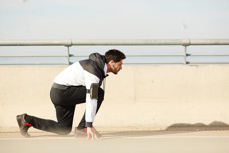 Runner by start line