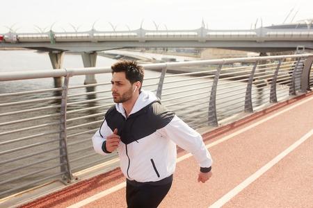 Guy jogging Stockfoto