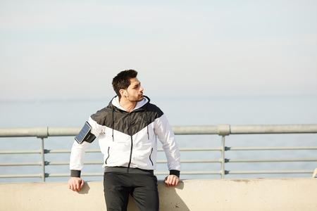 Man in sportswear Stockfoto