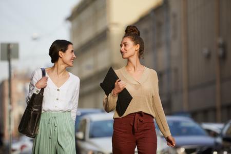 Girls taking walk