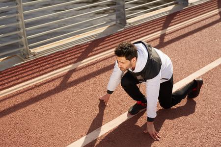 Sprinter on racetrack