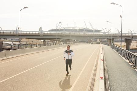 Urban runner Stockfoto