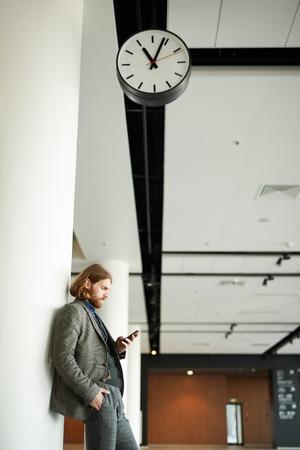 Man waiting for flight
