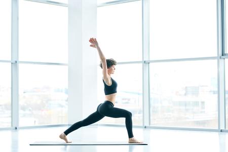 Woman show flexibility Stockfoto