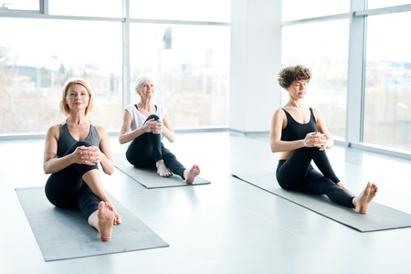 Women on mats