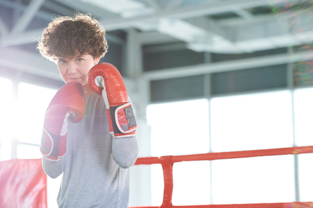 Woman boxing fighter