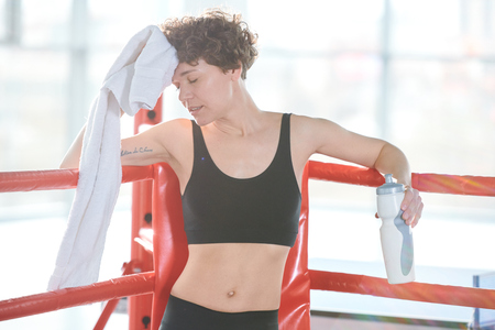woman after hard training