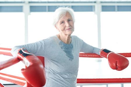 Senior boxer ready to train