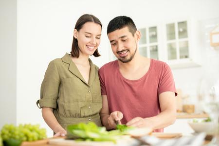 Husband cooking